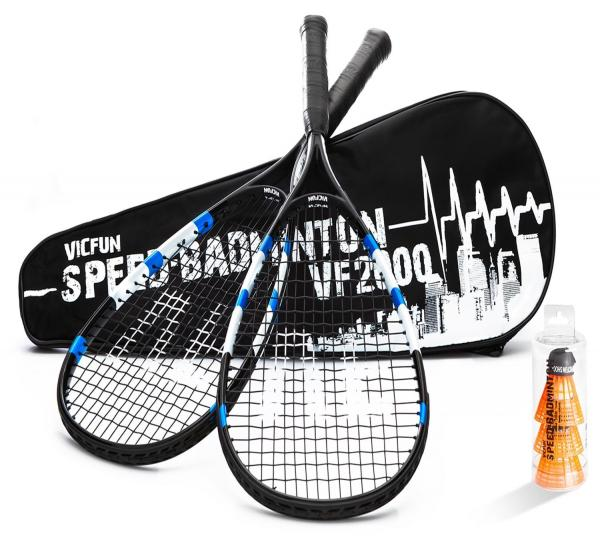 VICFUN 866/0/1 Speed-Badminton Set VF 2000, schwarz